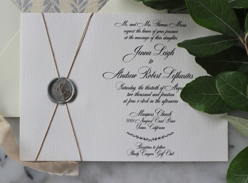 Jenna Andrew Wax Seal Invitation Suite Victoria Austin Designs