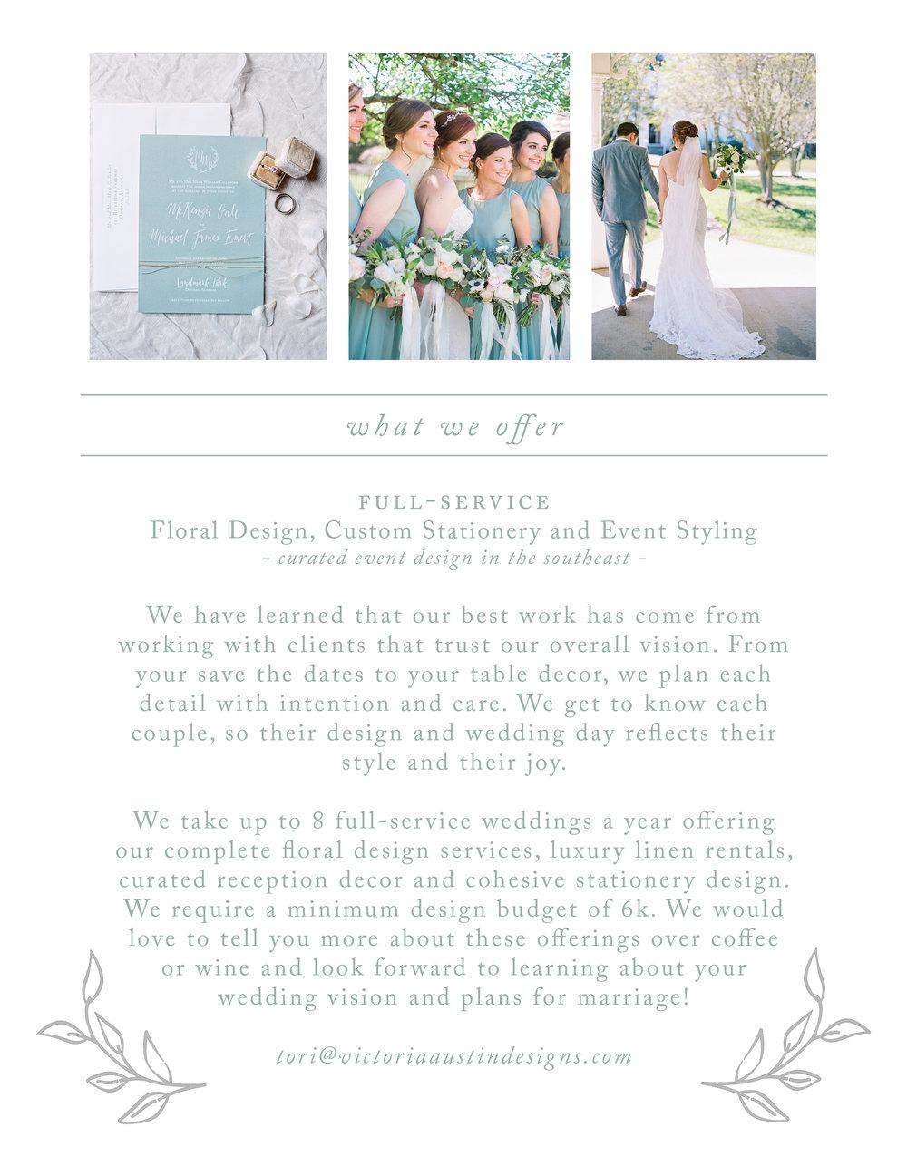 Victoria Austin Designs | 2017 Weddings | Alabama Weddings | Design, Florals, Stationery, Planning