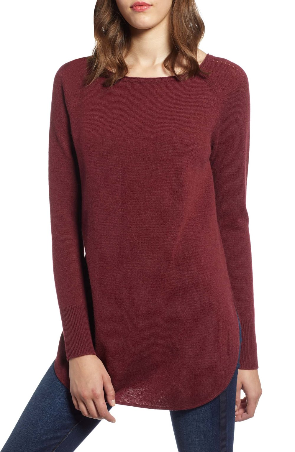 Another great Winter sweater. This is cashmere AND on sale now! I love the length for chasing my boy around! By  Halogen at Nordstrom