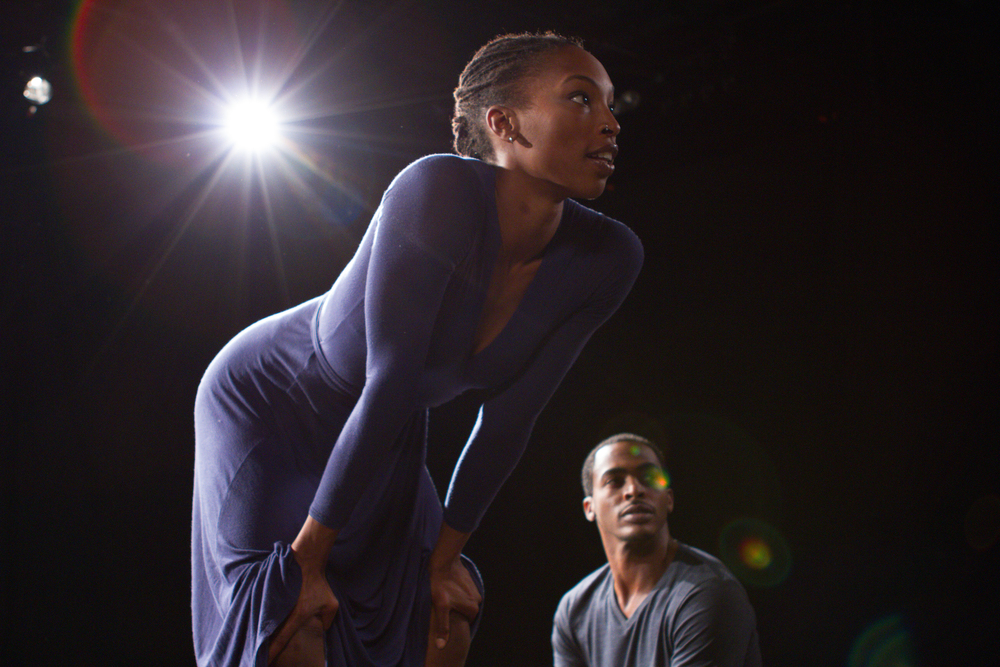 Dancers LaMichael Leonard and Shayla-Vie Jenkins.