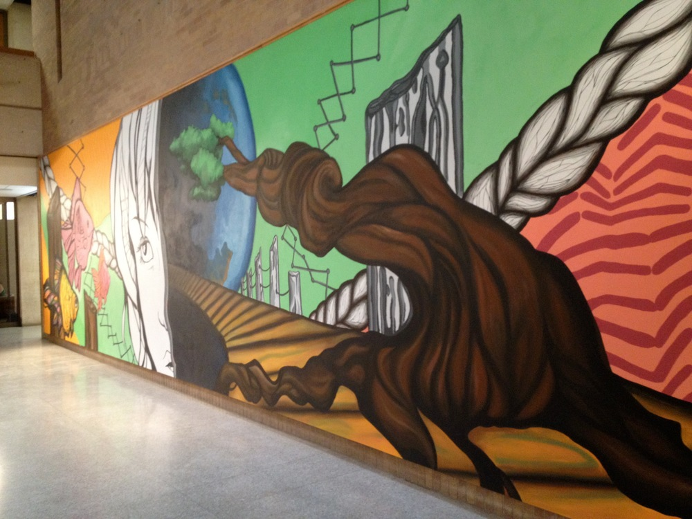 2012 pictured at UNT Art Building w/ UNT Mural Painting