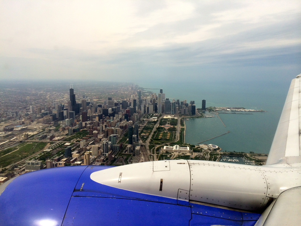 Flying into Midway in May