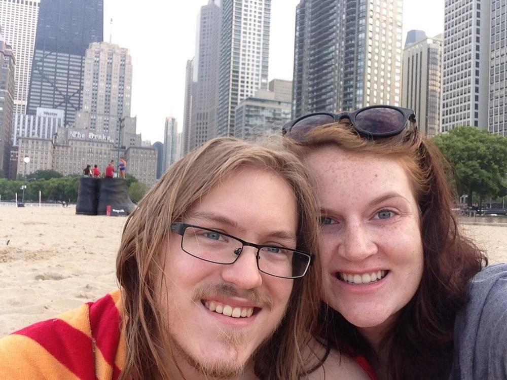 Kaitlyn and I at Oak Street Beach