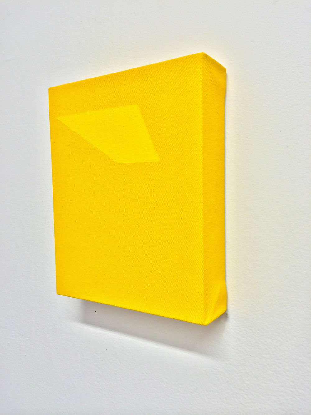 Untitled (Construction of yellow, yellow II)  enamel and pigment on canvas on panel