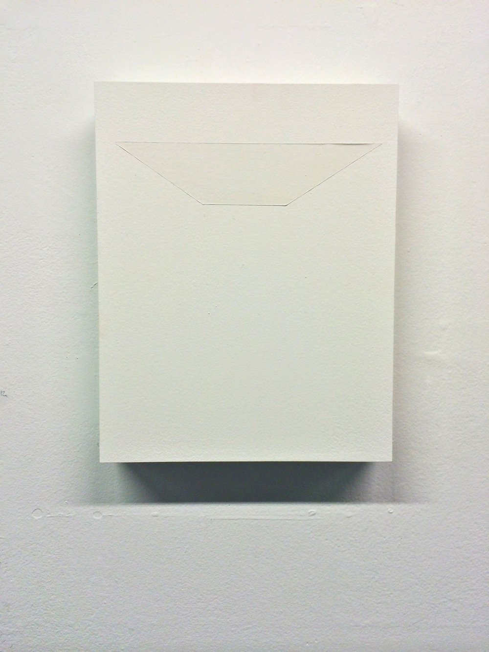 Untitled (Construction of white space III)  enamel and varnish on panel