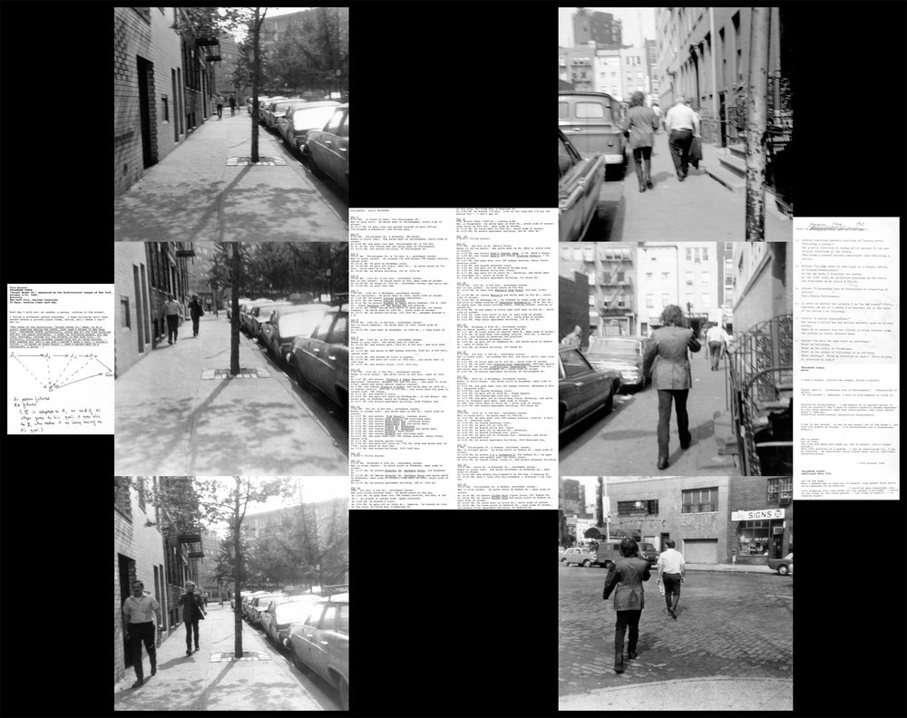 Vito Acconci's ollowing Piece, 1969