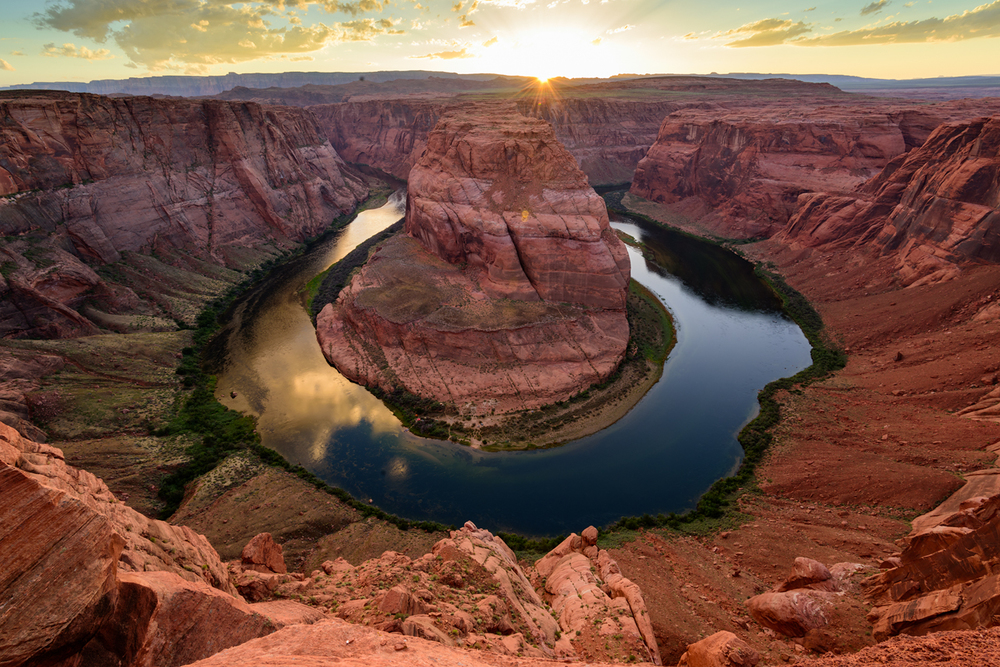Horseshoe Bend at Sunset, Page, AZ