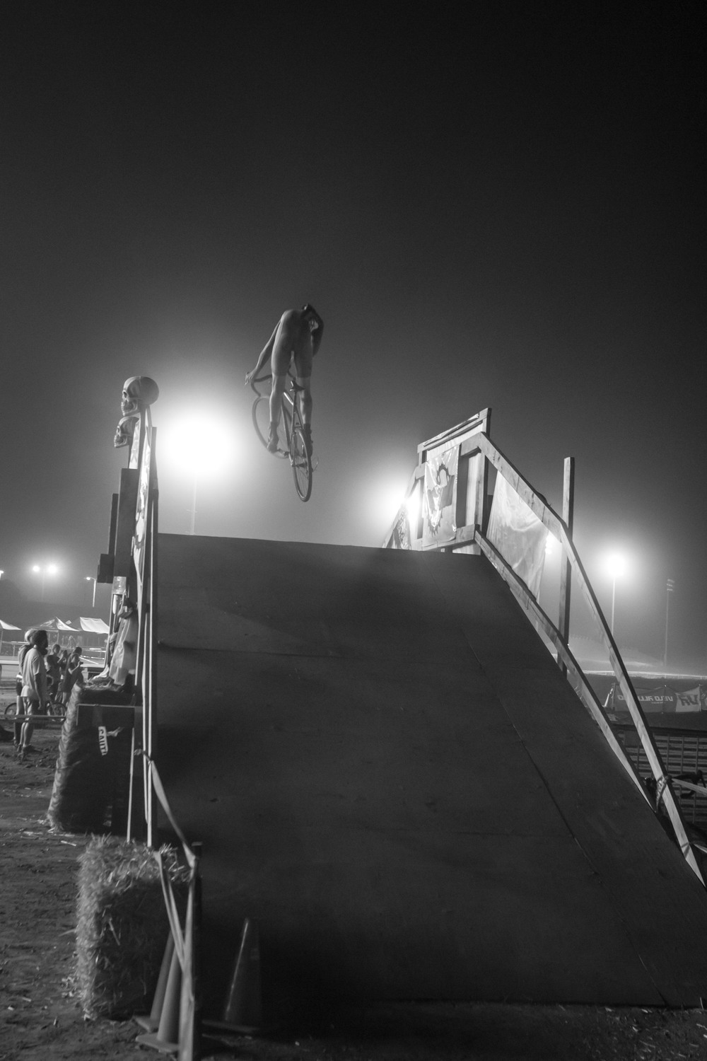 3. Catching air at Spooky Kross in the middle of a horse racetrack at Pomona Fairplex.