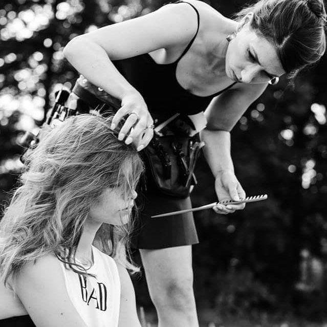 sneak peek #BTS of this week's NEW FACE by PHOTOGRAPHER @xaviermontpetitphotographe - MUAH Émilie Caron - *surprise* model from @foliomontreal  #foliofever