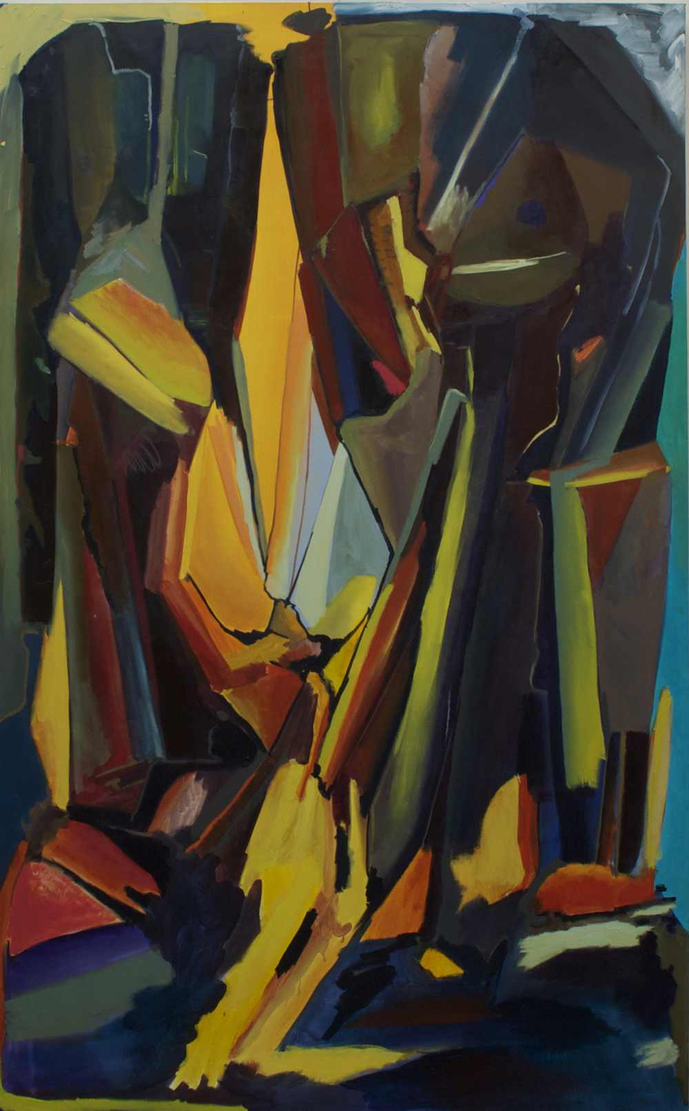 Jumbo Rocks(Blue), oil on canvas, 60x95 inches.