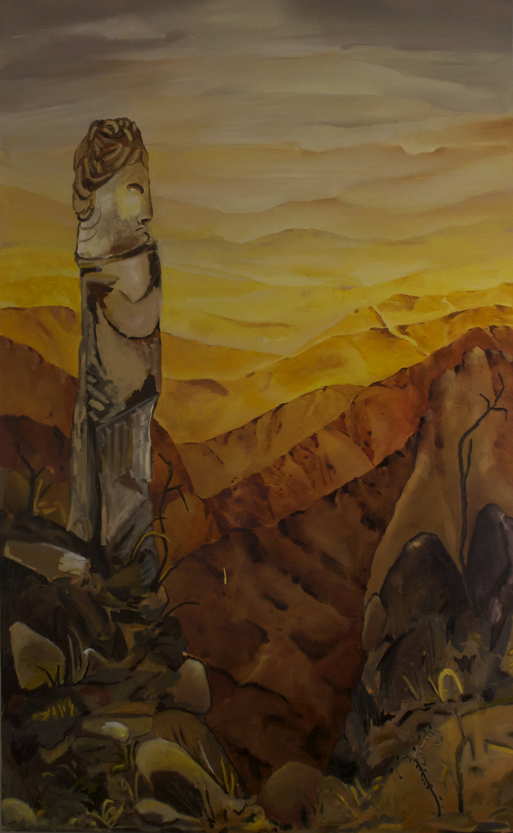 Key's View, oil on canvas, 60x95 inches.