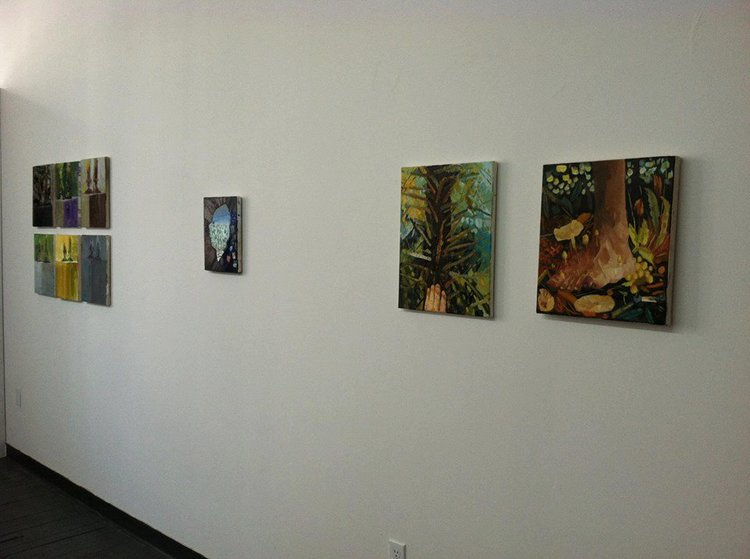 Installation view of  Storytellers and Mystics,  ACNY Exhibition Space, New York, NY, 2013.
