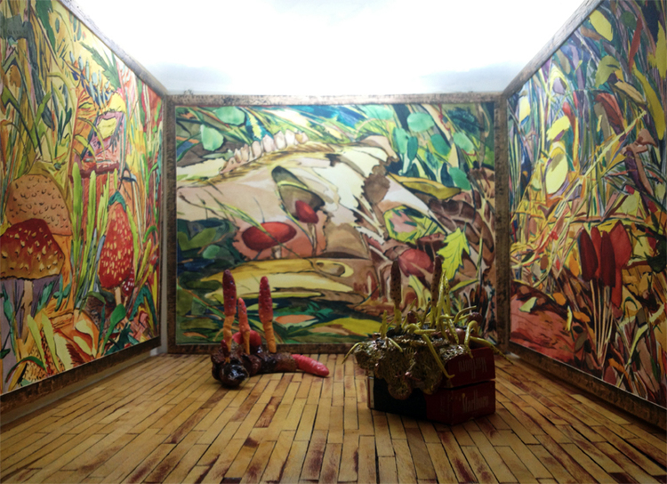 Installation view of  Cordyceps , FOXRIVER, Singapore, 2013.