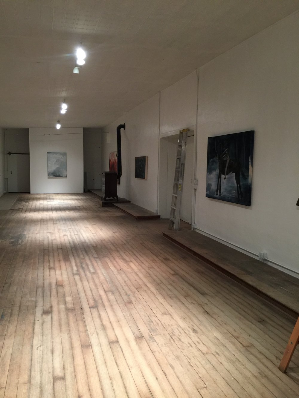 Installation view of  A Night in the County , The Range, Saguache, CO, 2015.