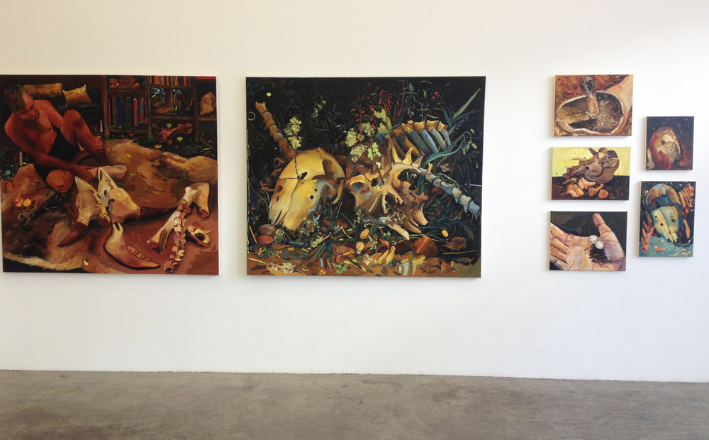 Installation view of  Fleeting Diversions , Jancar Gallery, Los Angeles, CA, 2013.