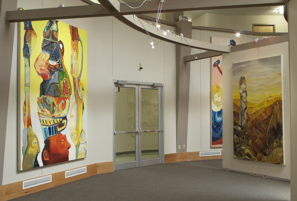 Installation View of  Giant Rock, 1999 , Clyde Snook Gallery, Adam State University.  Alamosa, CO, 2015.