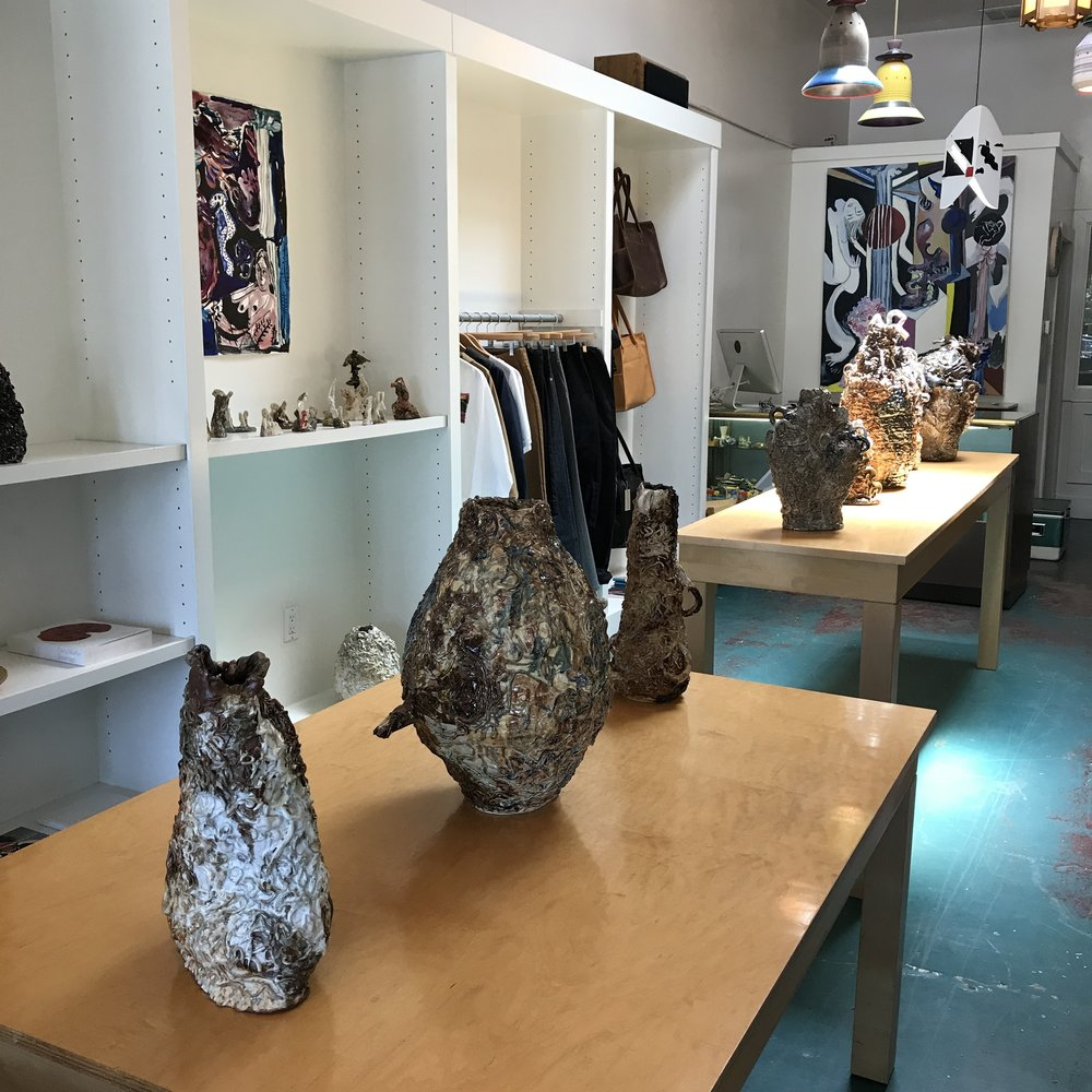 Installation view of  Tidal,    South Willard, Los Angeles, CA, 2017.