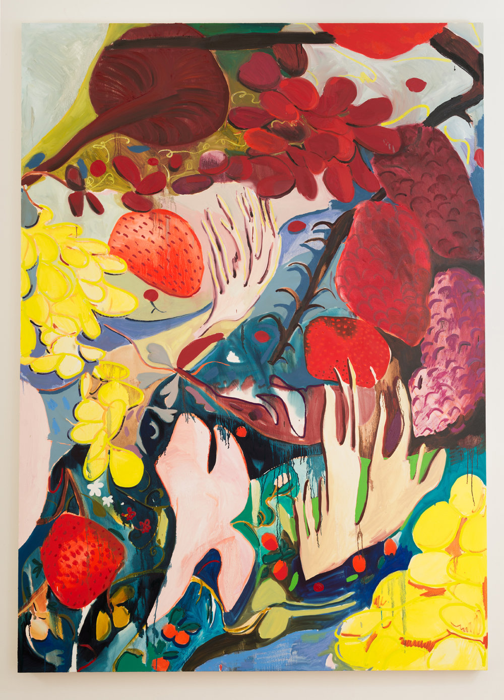 "Fruit Still Life 2, Oil on Canvas, 66""x92""."
