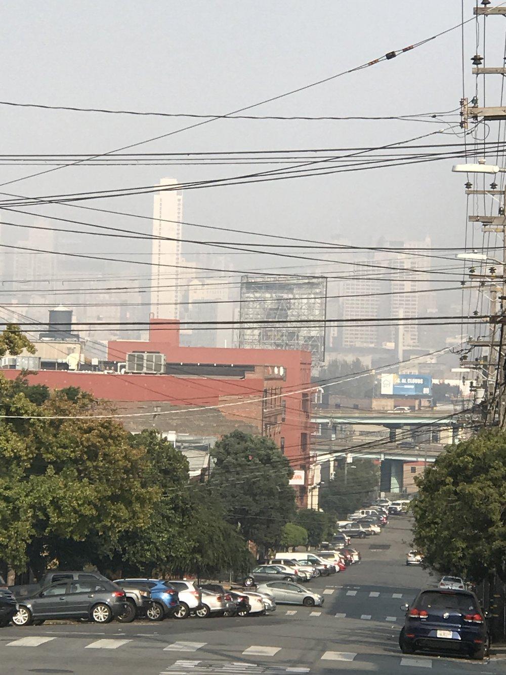 Unhealthy air quality, SF 11-14-2018