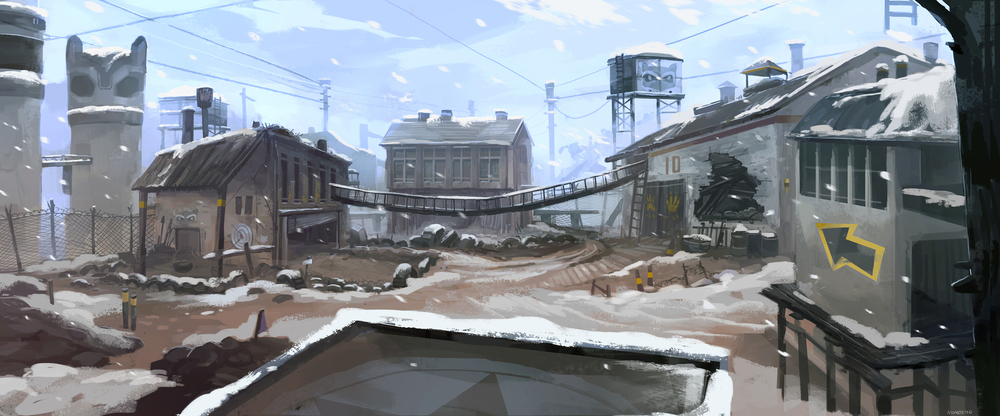 Winter Scrapyard
