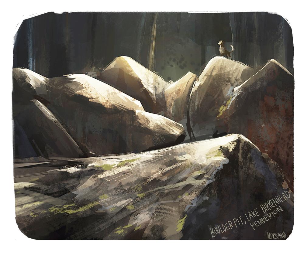 Boulder pit, Pemberton BC 2013