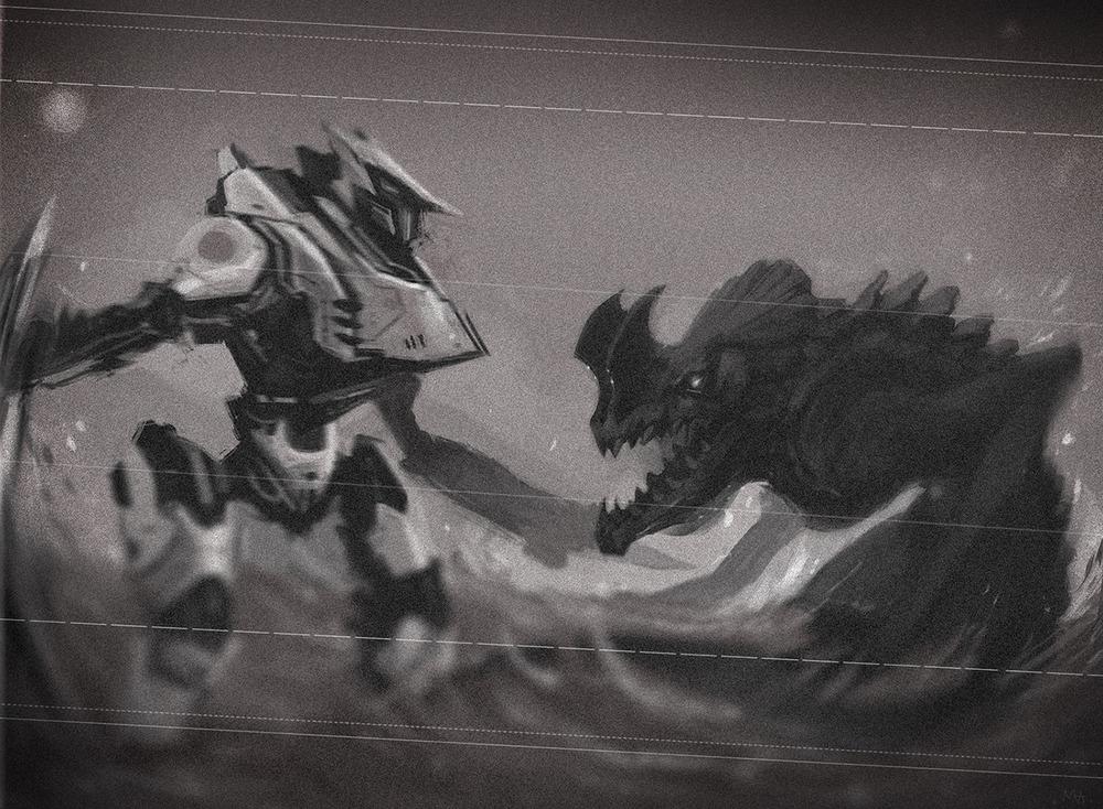 Fanart : Tacit Ronin vs my favourite Kaiju
