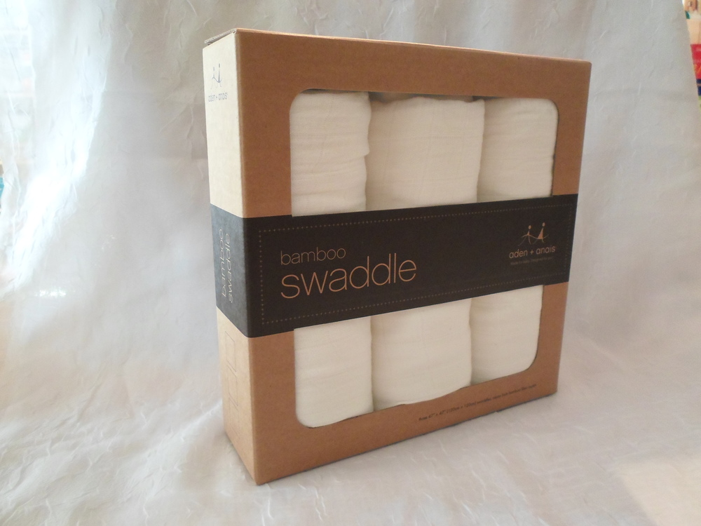 Aden & Anais Bamboo Swaddle 3 pack in Earthly $45  Wants 1
