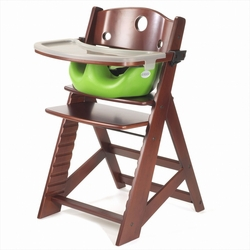 Keekaroo Height Right Highchair  Natural Wood w/Aqua Infant Insert  $229.95 Wants 1
