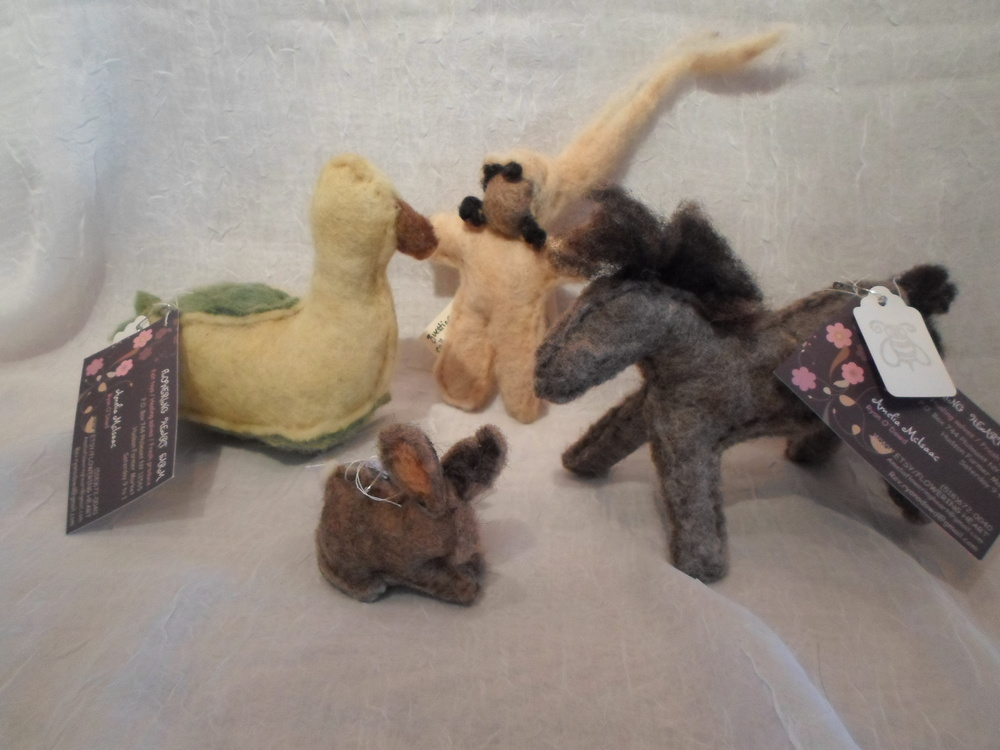 Felted Friends-  Locally Handmade   $13 +     Wants 1 + (Your Choice)