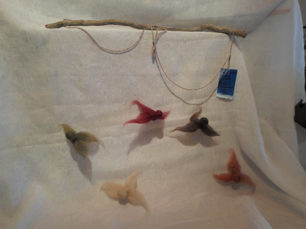 5 Bird Mobile of Wool in Earth Tones -  Locally Handmade   $35.95    Wants 1 - PURCHASED