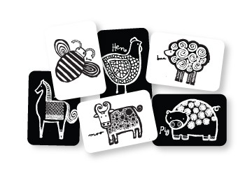 Black and White Card Set- Farm $12.95 Wants 1