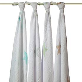 Aden & Anais Muslin Swaddles- 4 pack $49.95 Wants 1 PURCHASED