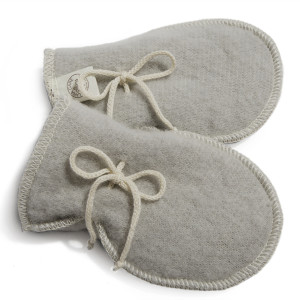 LanaCare Wool Mittens in Soft Grey size 4-12m $27.50 Wants 1