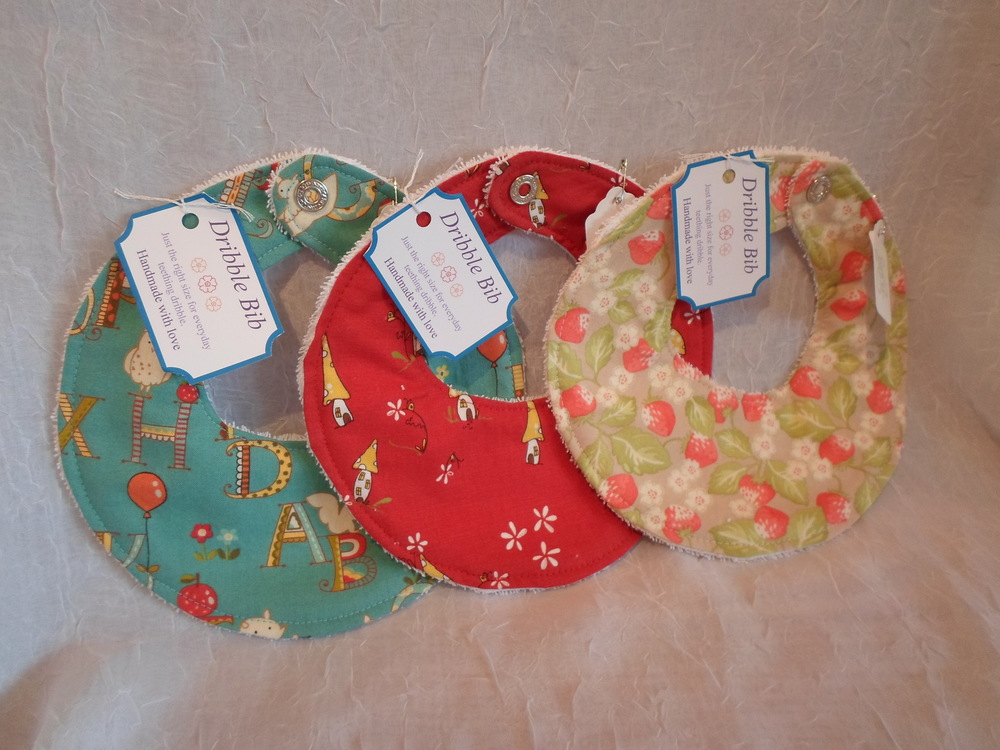Dribble Bib- Locally Handmade $7.50 each Wants 3 PURCHASED