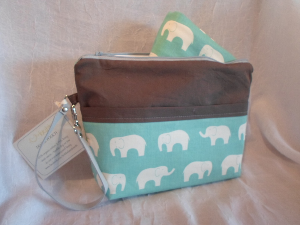 Kribbe Organic Diaper Pouch w/Changing Pad  Locally Handmade $57.95 Wants 1 PURCHASED