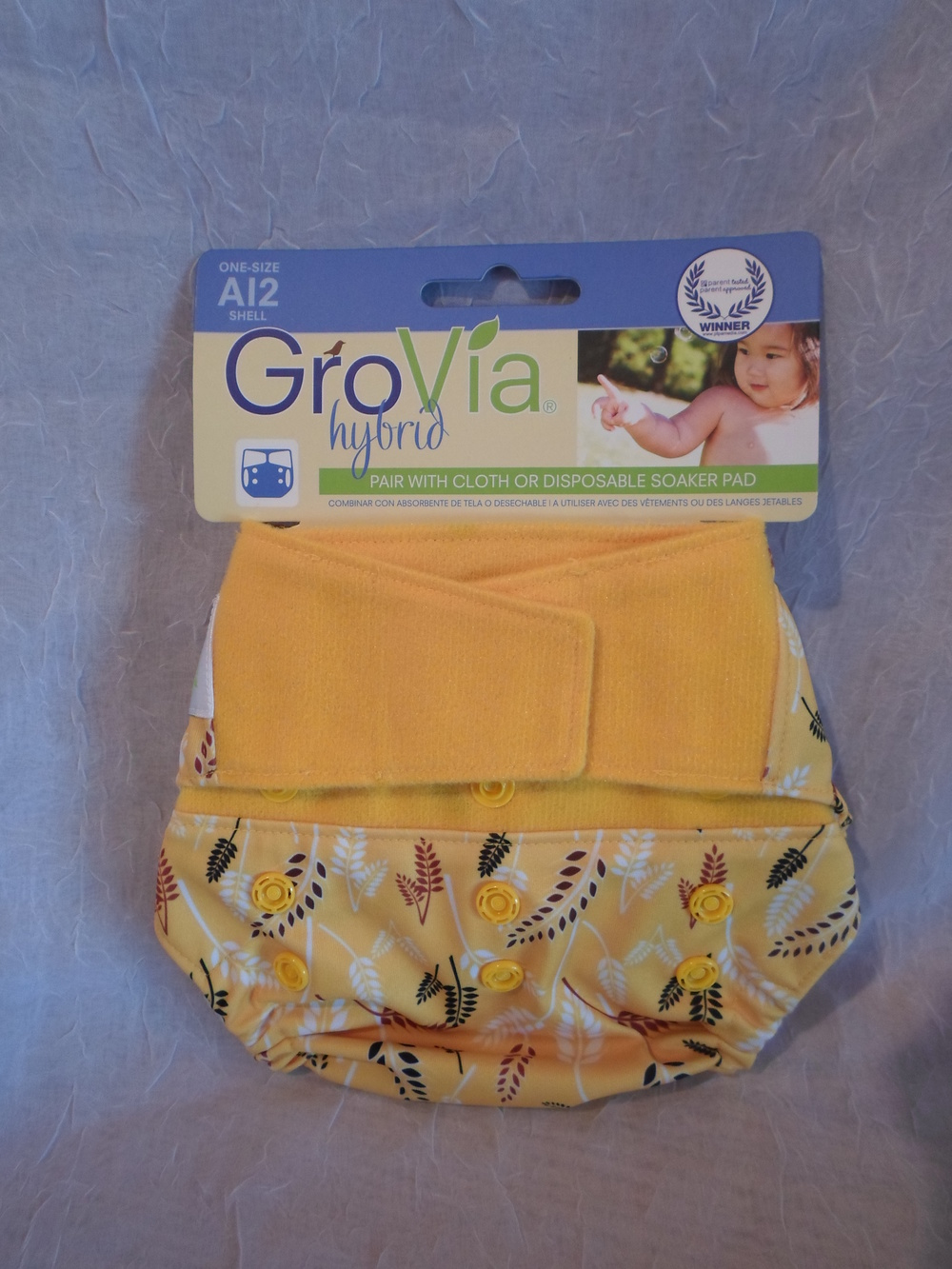 GroVia One Size Hybrid Diaper Cover in Sweetgrass $16.95 each Wants 2 - 1  PURCHASED