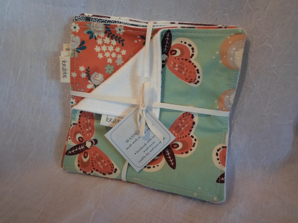 Kribbe Organic Washcloth Set of 6 Locally Handmade $25 Wants 1