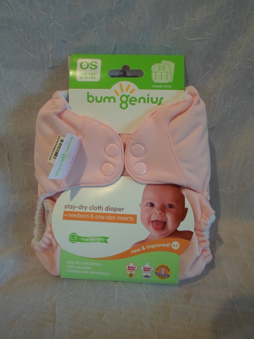 bumGenius 4.0 One Size Pocket Diaper in Blossom $17.95 each Wants 1 PURCHASED