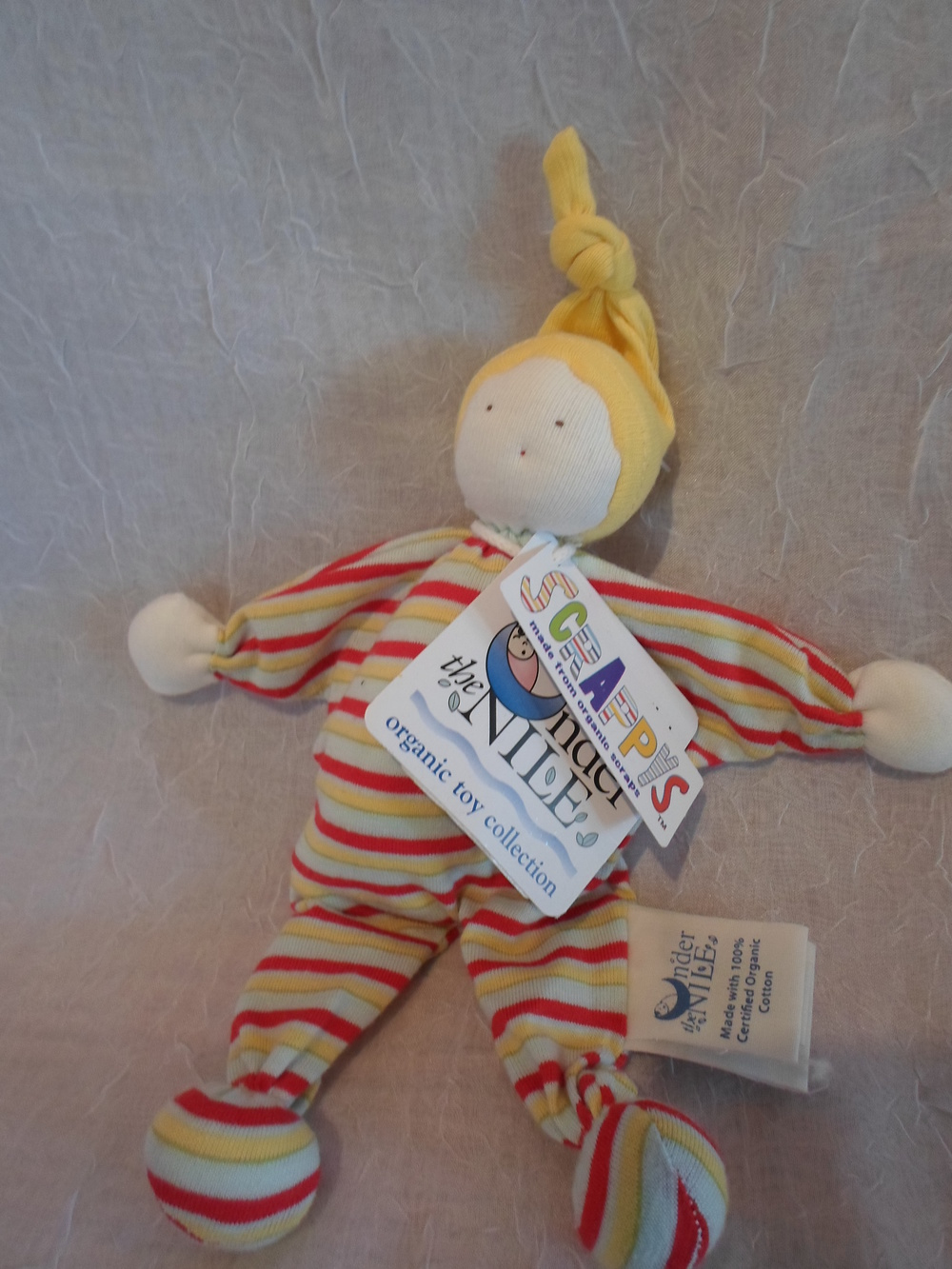 Under The Nile Organic Scrappys Doll $9.95 Wants 1 PURCHASED