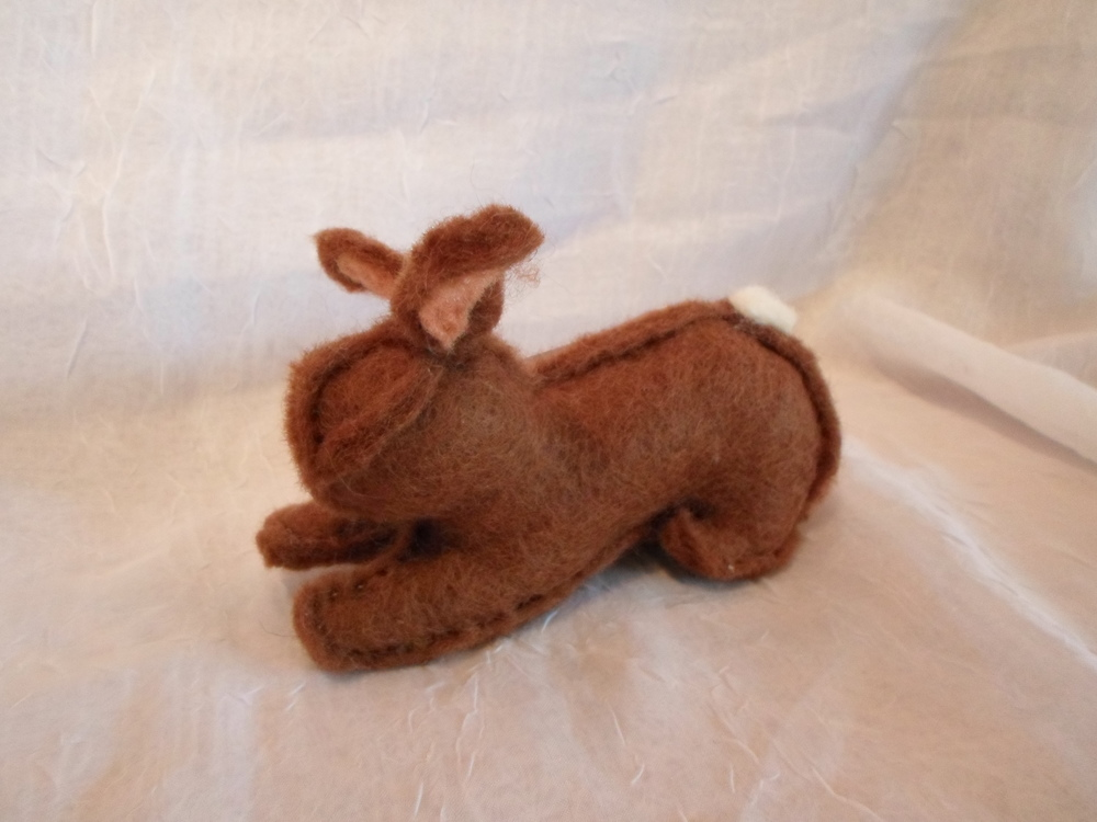 Felted Wool Brown Bunny Locally Handmade $25 Wants 1 PURCHASED