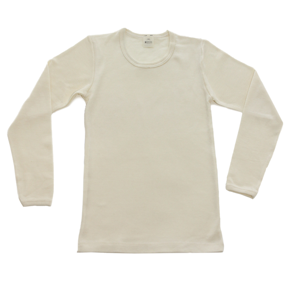 Hocosa Organic Wool/Silk LS Shirt     size 3-6m    $33    Wants 1