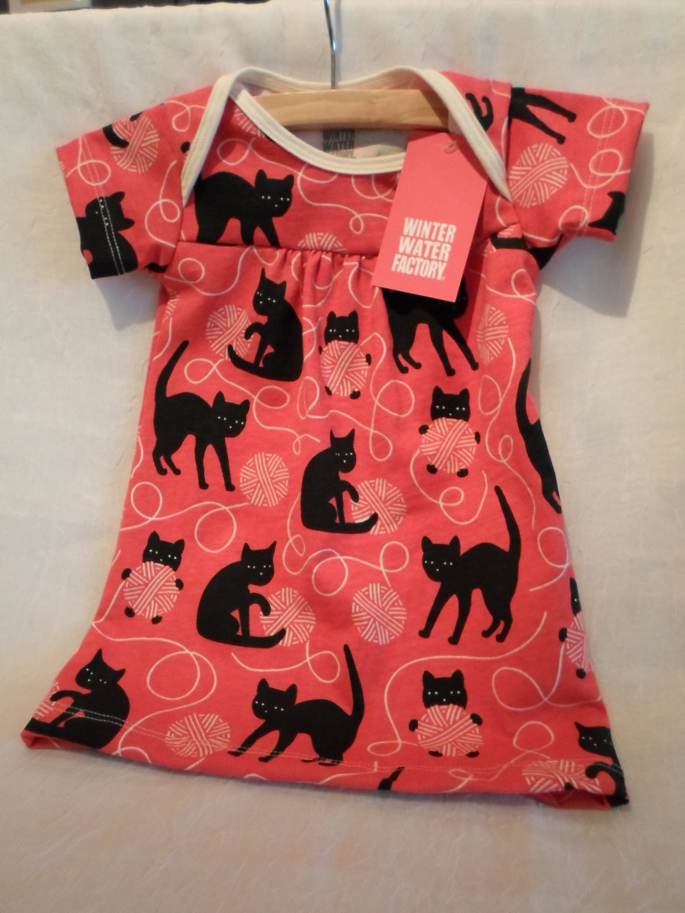 Winter Water Factory Organic Dress   in Black Kitty     size 6m    $37.95    Wants 1 - PURCHASED