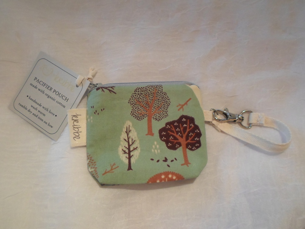 Kribbe Organic Pacifier Pouch -Locally Handmade $10 Wants 1  PURCHASED