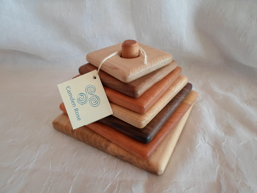 Camden Rose Hardwood Square Stacker    $19.99    Wants 1 PURCHASED