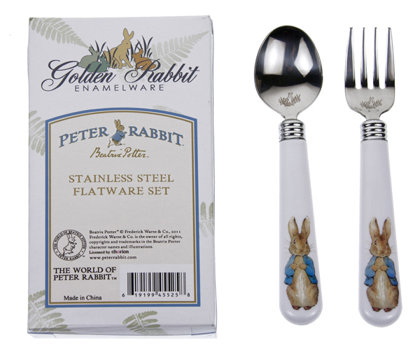 Peter Rabbit Fork and Spoon Set    $12.95    Wants 1 PURCHASED