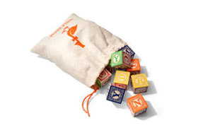 Uncle Goose Classic ABC Blocks w/Canvas Bag    $42.00    Wants 1