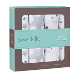 Aden & Anais Muslin Swaddle 4pk in Twinkle    $49.95    Wants 1
