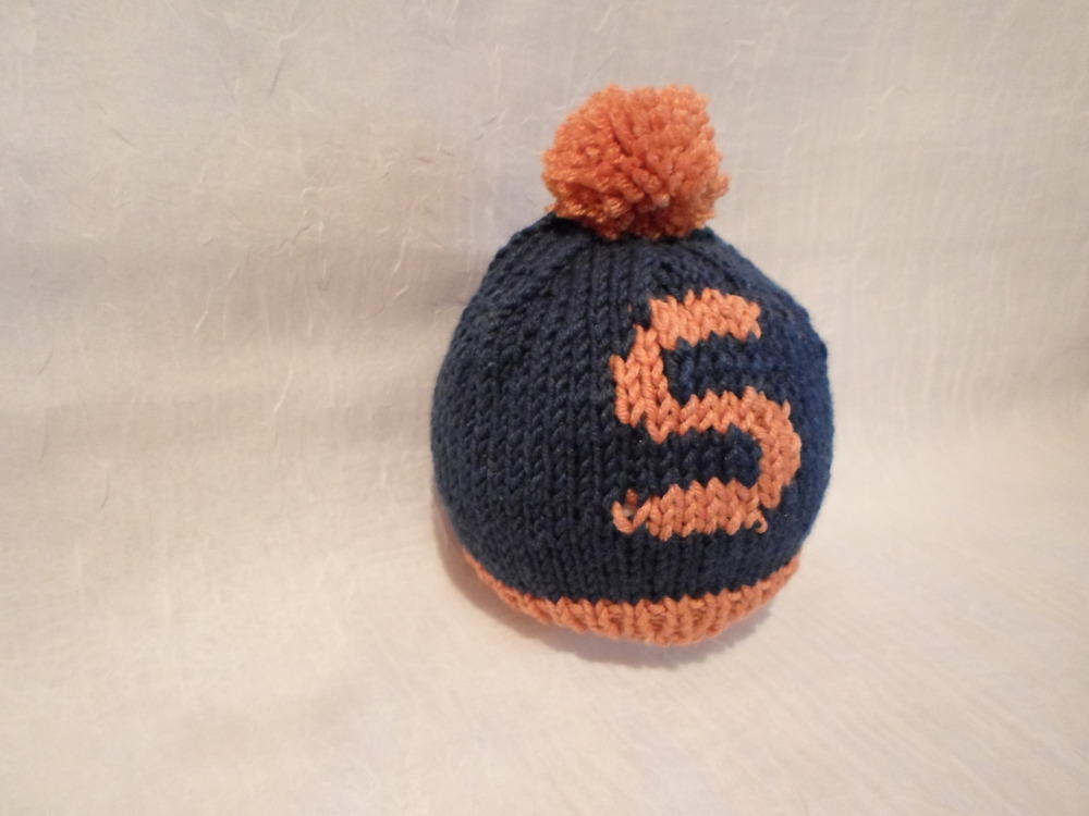 "Hand-knit Wool Newborn ""S"" Hat  Locally Handmade   $24.95    Wants 1 PURCHASED"