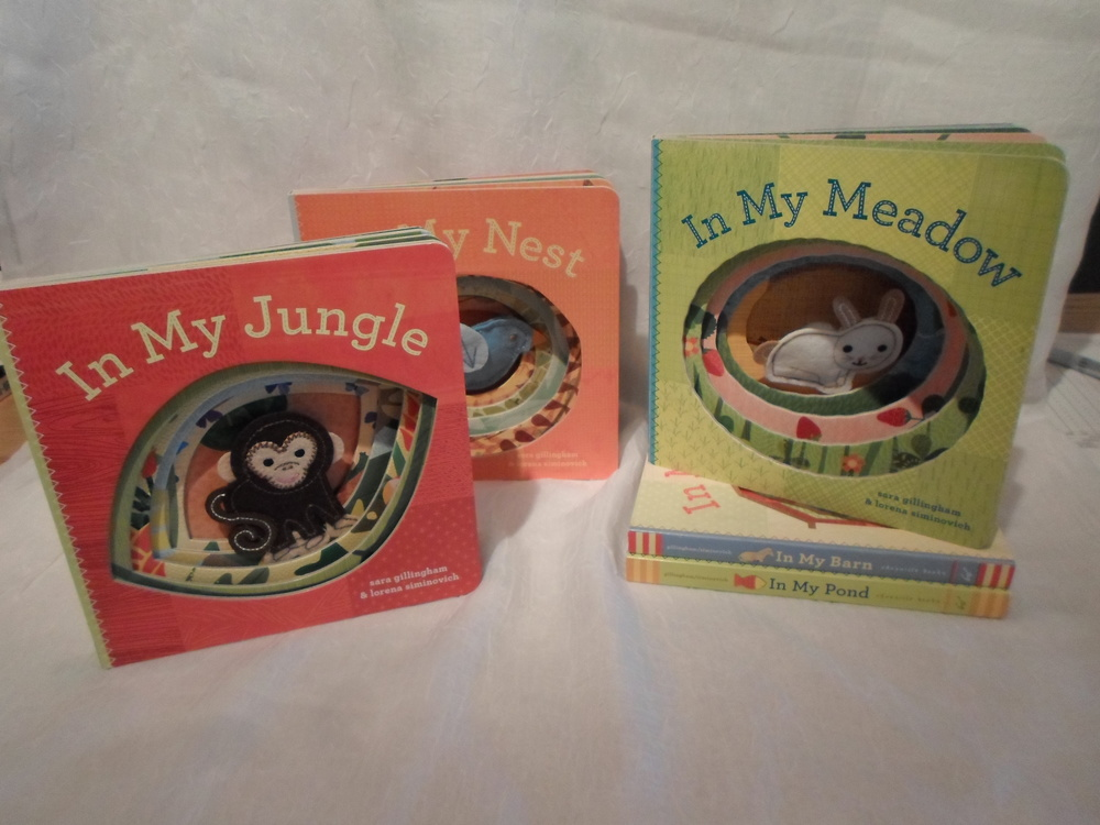 """In My...."" Finger Puppet Board Books    $8.99 each    Wants 1+"