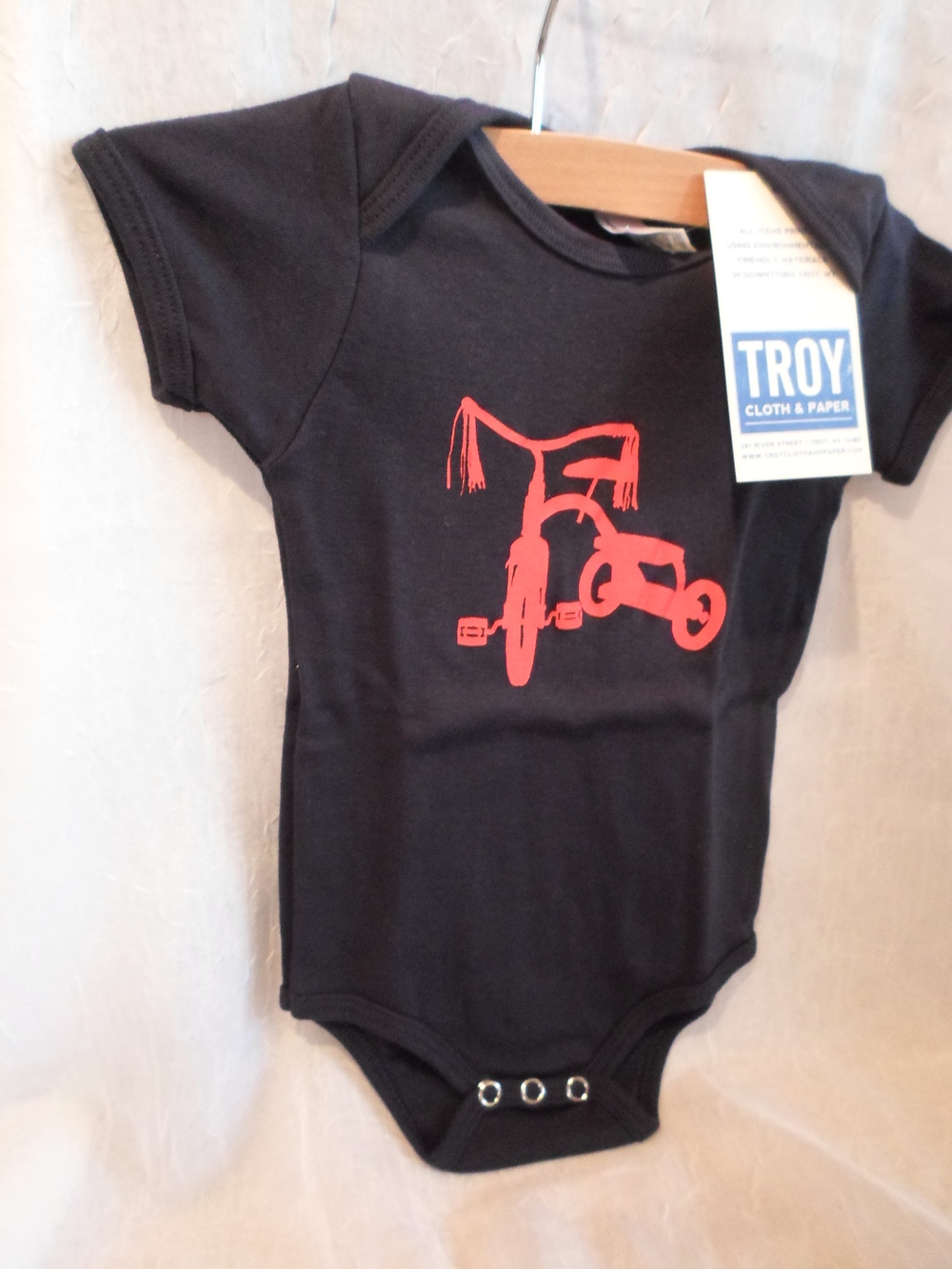Troy Cloth & Paper Red Tricycle Bodysuit 3-6m $16.00 Wants 1